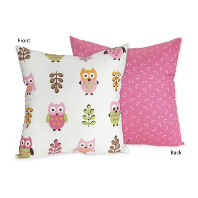 Sweet Jojo Designs Owl Pink Collection Decorative Pillow