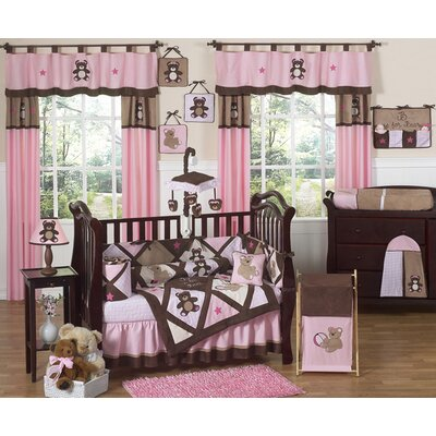Sweet Jojo Designs Teddy Bear Pink Crib Bedding Collection
