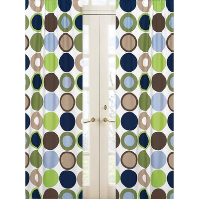 Sweet Jojo Designs Designer Dot Rod Pocket Curtain Panel Pair