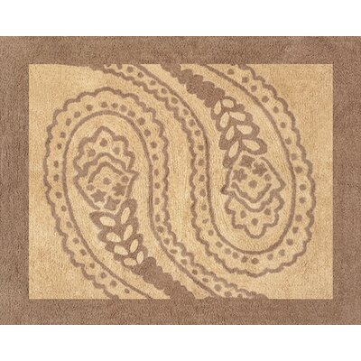 Sweet Jojo Designs Camel Paisley Collection Floor Rug