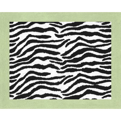 Sweet Jojo Designs Zebra Lime Collection Floor Rug
