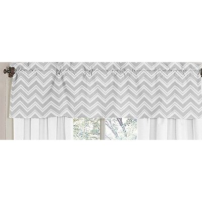 Sweet Jojo Designs Yellow and Gray Zig Zag Cotton Curtain Valance