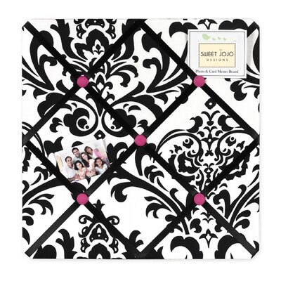 Sweet Jojo Designs Isabella Hot Pink, Black and White Collection Memo Board