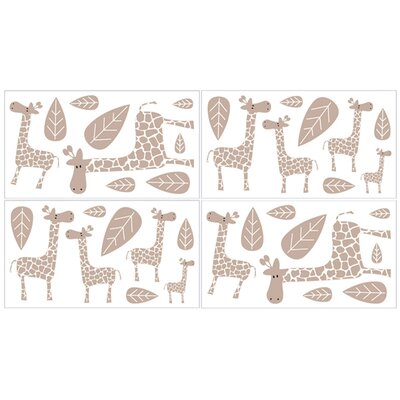 Giraffe Collection Wall Decal Stickers (Set of 4)