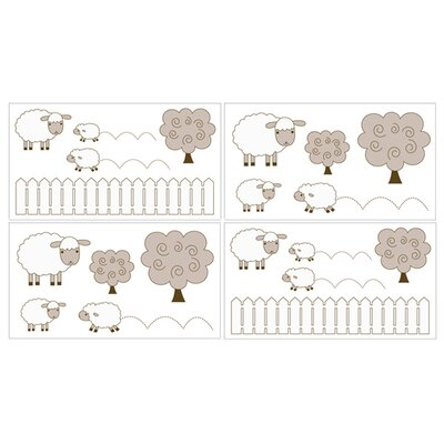 Lamb Collection Wall Decal Stickers (Set of 4)