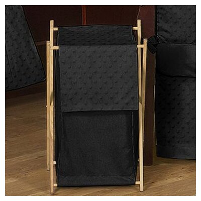 Sweet Jojo Designs Minky Dot Black Laundry Hamper