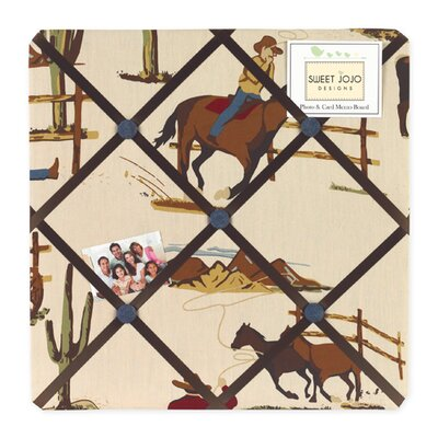 Sweet Jojo Designs Wild West Cowboy Collection Memo Board