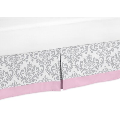 Pink and Gray Elizabeth Toddler Bed Skirt