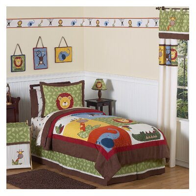 Jungle Time Collection 4pc Twin Bedding Set