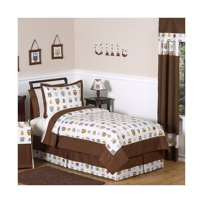 Owl Collection 4pc Twin Bedding Set