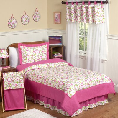 Sweet Jojo Designs Circles Pink Kid Bedding Collection