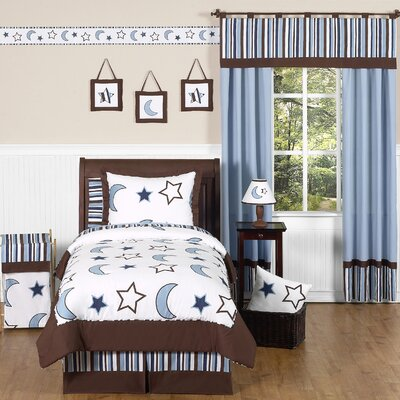 Sweet Jojo Designs Starry Night Collection 4pc Twin Bedding Set