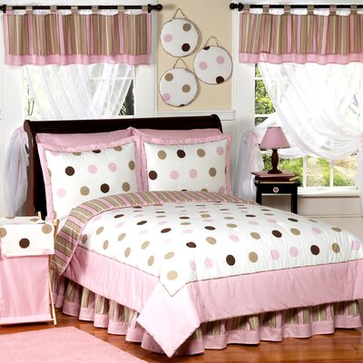 Sweet Jojo Designs Mod Dots Pink Kid Bedding Collection