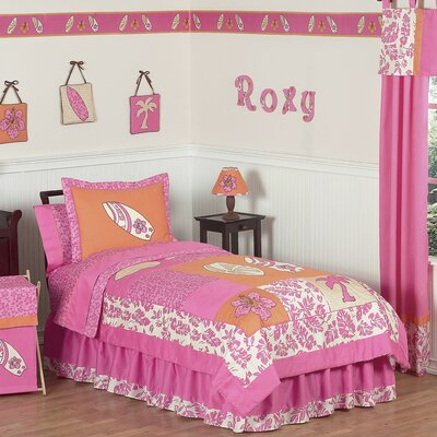 Sweet Jojo Designs Surf Pink Kids Bedding Collection