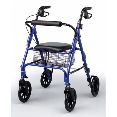 Medline Comfort Glide Rollator in Blue