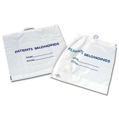 Medline Patient Belonging Bag in White (10 Packs per case)