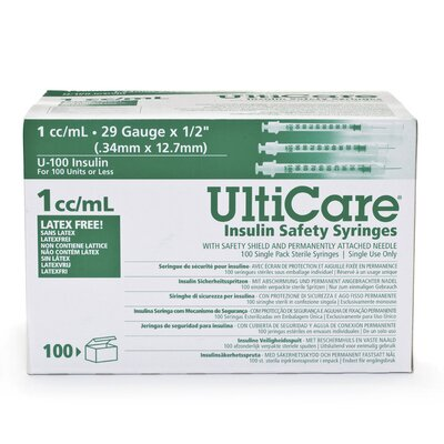 Medline UltiCare Insulin Safety Syringes