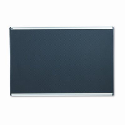 Quartet® Embossed Bulletin Board, Hi-Density Foam, 72x48, Black, Aluminum Frame