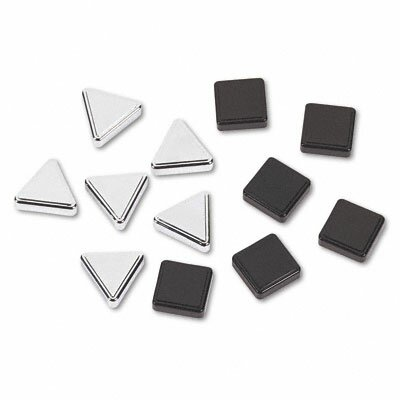 Quartet® Metallic Magnets, 12/Pack