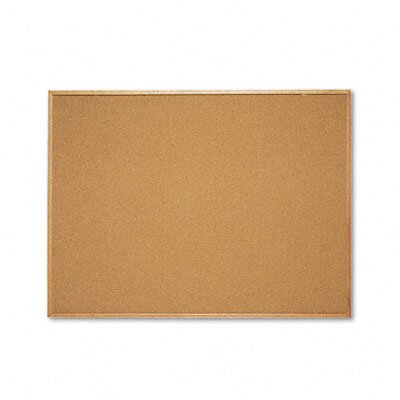 Quartet® ut Cork Bulletin Board Cork with Natural Oak Frame