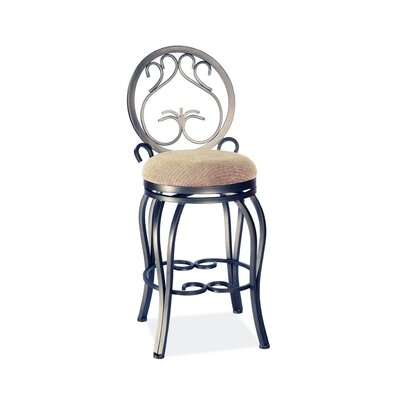 "Chintaly Imports 26"" Swivel Memory Return Counter Stool with Curved Legs"