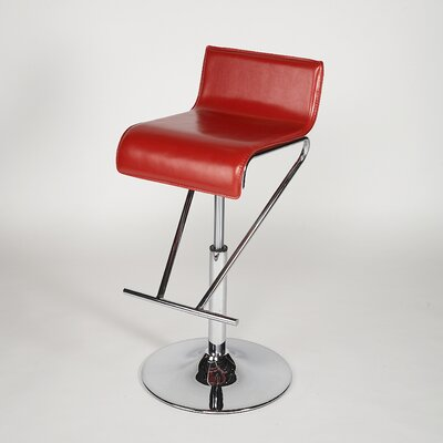 Chintaly Imports Adjustable Swivel Stool in Red