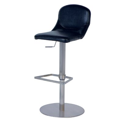 Chintaly Imports Mid Back Adjustable Swivel Stool in Black