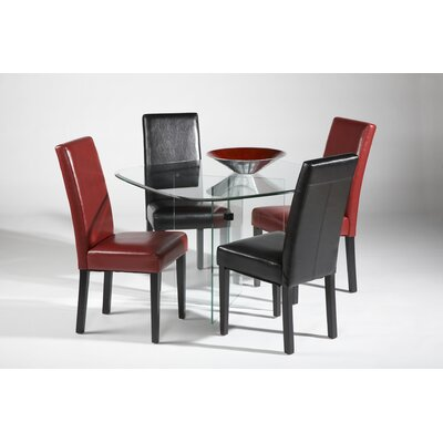 Chintaly Imports X-Base 5 Piece Dining Set