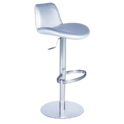Adjustable Height Swivel Stool in Silver