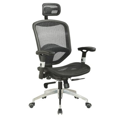 Chintaly Imports Mid-Back Adjustable Office Chair with Headrest