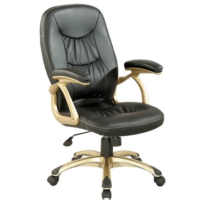 Chintaly Imports Ultra Comfortable High-Back Leather Office Chair