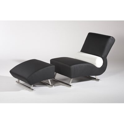 Chintaly Imports Deville Chair and Ottoman