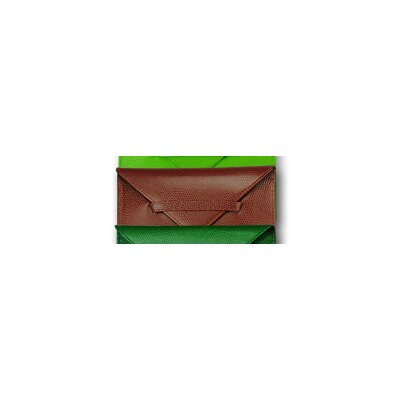 Budd Leather Lizard Grain Accessory Portable Leather Photo Case