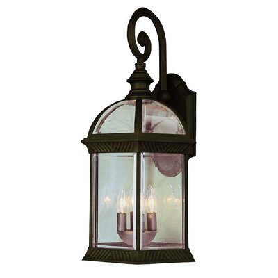 TransGlobe Lighting Four Light Outdoor Large Wall Lantern in White