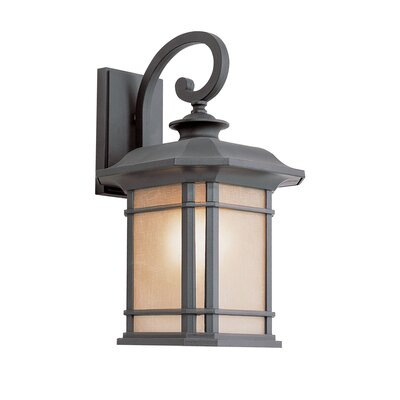 TransGlobe Lighting Corner Windows 1 Light Outdoor Small Wall Lantern