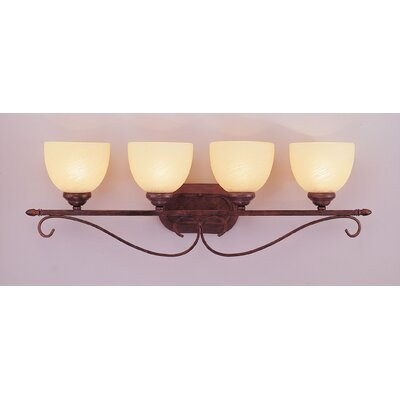 Rubbed Bronze Bathroom Lighting on Lighting Four Light Bath Vanity In Rubbed Oil Bronze   Wayfair