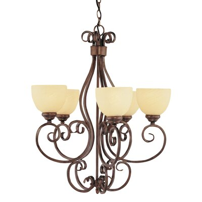TransGlobe Lighting 5 Light Chandelier
