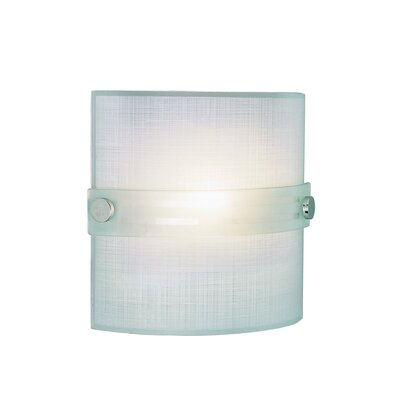 TransGlobe Lighting One Light Wall Sconce with Frosted Shade in Polished Chrome