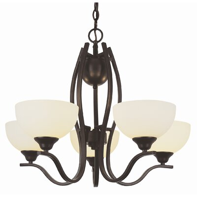 TransGlobe Lighting Contemporary 5 Light Chandelier