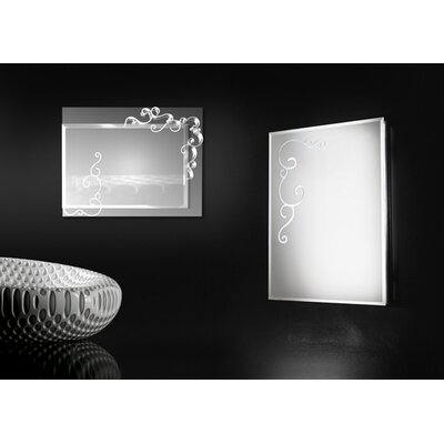 Touch Design Curly Square Mirror Wall Lamp
