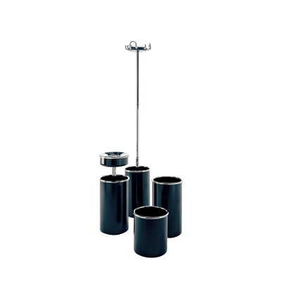 Rexite Colmo Coat Stand with Umbrella Stand in Black