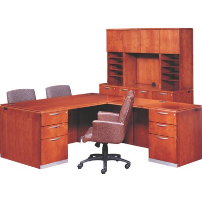 Paoli Reward Right Pedestal Executive Station with Bow Top