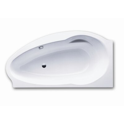"Kaldewei Atmo Right 67"" x 35.4"" Bath Tub with Molded Panel and Feet in White"