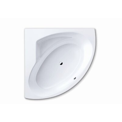 Kaldewei Punta Duo 3 55.1&quot; x 55.1&quot; Bath Tub with Polystyrene Support and Panel in White