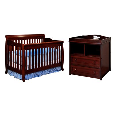 AFG Furniture Athena Amy Crib with 2-Drawer Changer Dresser