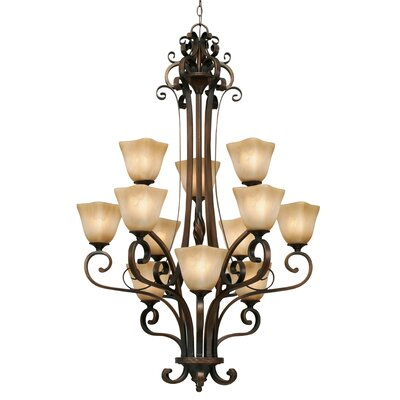 Meridian 12 Light Chandelier