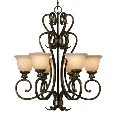 Heartwood 6 Light Chandelier