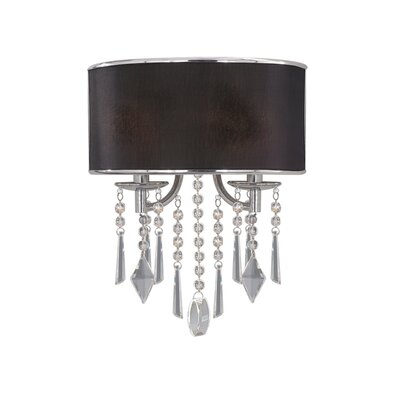 Golden Lighting Echelon Wall Sconce in Chrome