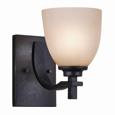 Hampden One Light Wall Sconce in Dark Natural Iron