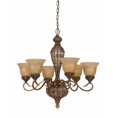 Crown Jewel 6 Light Chandelier